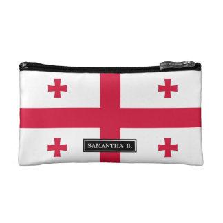 Georgia-Flagge Kosmetiktasche