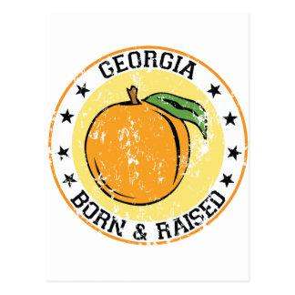 Georgia geboren und mit Pfirsich angehoben Postkarte