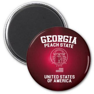 Georgia-Pfirsich-Staat Runder Magnet 5,1 Cm