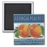 Georgia-Pfirsiche, Vintage Frucht-Kisten-Aufkleber Magnete
