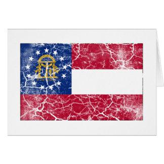 Georgia-Staats-Flagge Vintag Karte