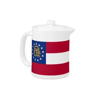 Georgia-Staats-Flaggen-Teekanne