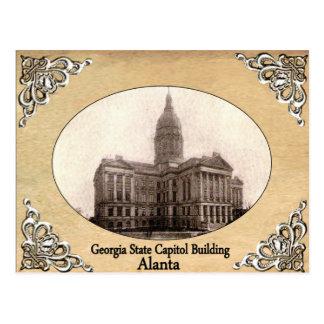 Georgia-Staats-Hauptstadts-Gebäude-alte Postkarte