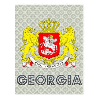 Georgia-Wappen Postkarte