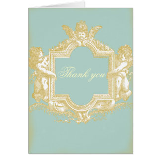 Georgiana (Marie Antoinette Blau) WeddingThank Sie Karte