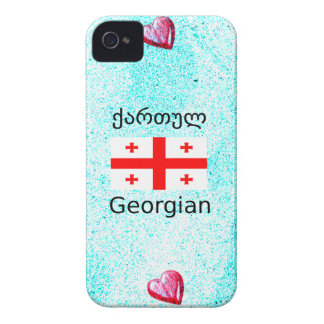 Georgische Sprache und Flaggen-Entwurf iPhone 4 Cover