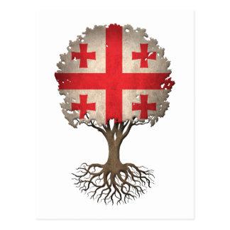 Georgischer Flaggen-Baum des Lebens kundengerecht Postkarte