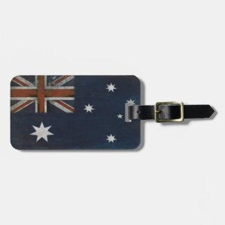 Gepäckanhänger mit Flagge von Australien