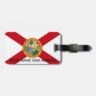 Gepäckanhänger mit Flagge von Florida, USA
