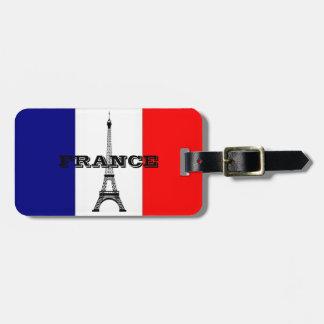 Gepäckanhänger mit Flagge von Frankreich- und