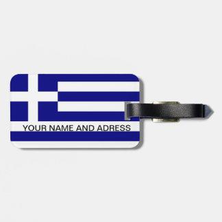 Gepäckanhänger mit Flagge von Griechenland