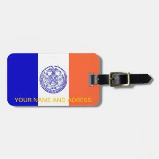 Gepäckanhänger mit Flagge von New York, USA