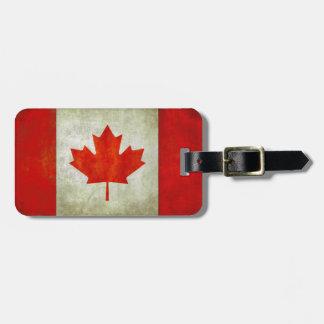 Gepäckanhänger mit kanadischer Flagge