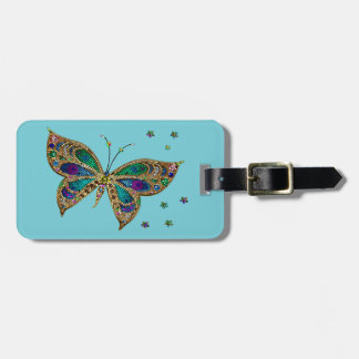 Gepäckanhänger--Mosaik-Schmetterling Kofferanhänger
