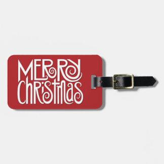 Gepäckanhänger Weiß der frohen Weihnachten