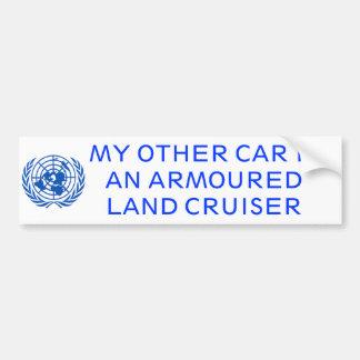 Gepanzerter Land-Kreuzer Autoaufkleber