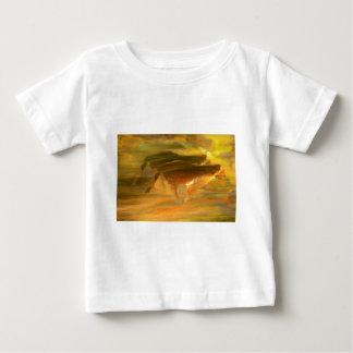 Gepard, der Digital-Kunst laufen lässt Baby T-shirt