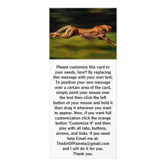 Gepard, der sein Opfer jagt Werbekarte