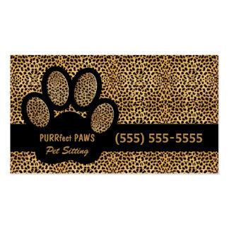 Gepard-Druck mit kundenspezifischem Visitenkarte