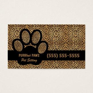 Gepard-Druck mit kundenspezifischem Visitenkarten