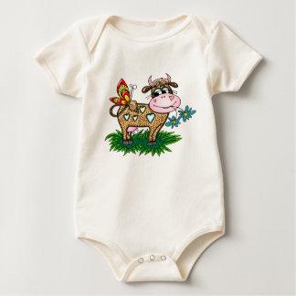 Gepard-Kuh u. Schmetterling Baby Strampler