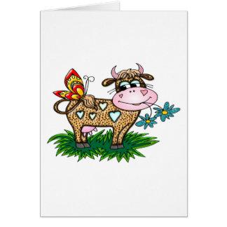 Gepard-Kuh u. Schmetterling Karte