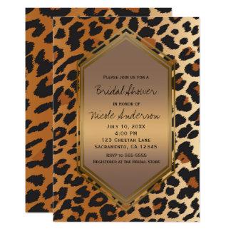 Gepard-Leopard-wildes Tier-Druck exotisch Karte