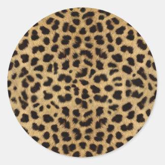 Gepard-Pelz-Muster, Gepard-Druck Runder Aufkleber