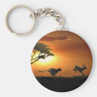 Gepard und Gazelle keychain Schlüsselanhänger