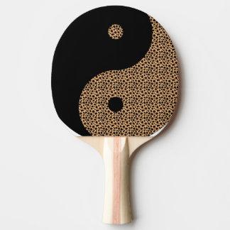 Gepard und schwarzer Ying Yang Tischtennis Schläger