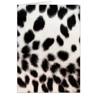 Gepard-weißer Druck Karte