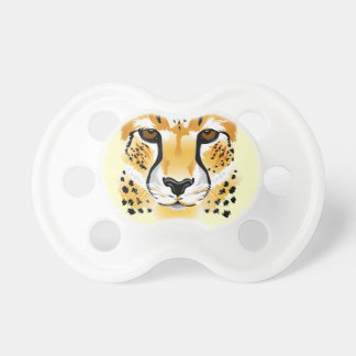 Gepardhauptnahaufnahme-Illustrationsbaby Schnuller