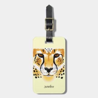 Gepardhauptnahaufnahmeillustration Kofferanhänger