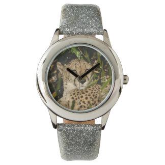 Gepardphotographie Uhr