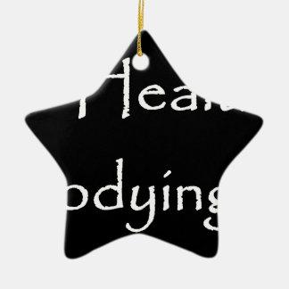 Gepaßte gesunde Ehren sein, die Leben-Schwarzes Keramik Ornament