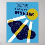 Geplante Wohnung kämpft Krankheit Plakatdruck
