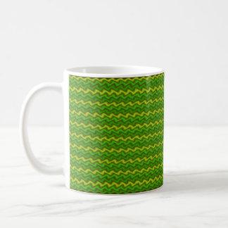 Geplätscherte Grüntöne Kaffeetasse