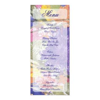 Gepresste Blumenblumenentwurfsgestellartmenüs 10,2 X 23,5 Cm Einladungskarte