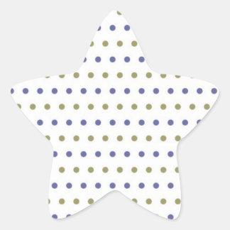 gepunktet muster punkte tupfen getupft erbsen polk Stern-Aufkleber