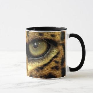 Gepunktete Jaguar-Augen-große Katzen-wild lebende Tasse