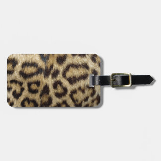 Gepunktete Leopard-Haut Gepäckanhänger