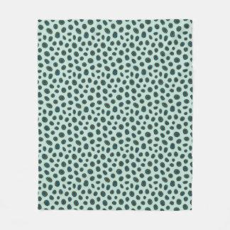 Gepunktete Mandarinen-Tierdruck-Fleece-Decke Fleecedecke