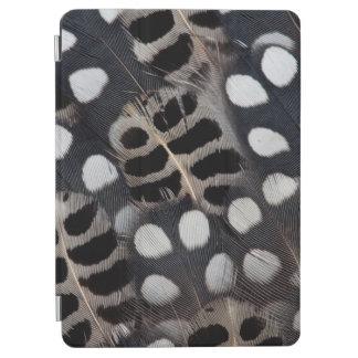 Gepunktete Schwarzweiss-Federn iPad Air Cover