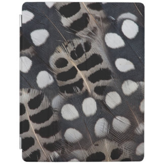 Gepunktete Schwarzweiss-Federn iPad Hülle