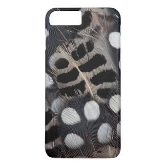 Gepunktete Schwarzweiss-Federn iPhone 8 Plus/7 Plus Hülle