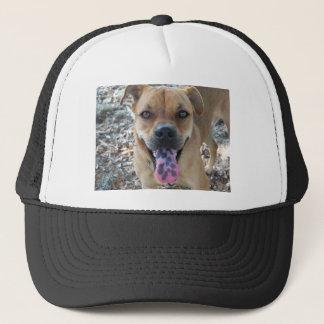 gepunktete Zunge des glücklicher Hund 804a Truckerkappe