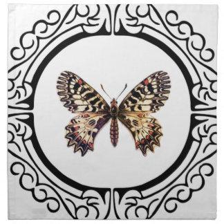 gepunkteter beringter Schmetterling Serviette