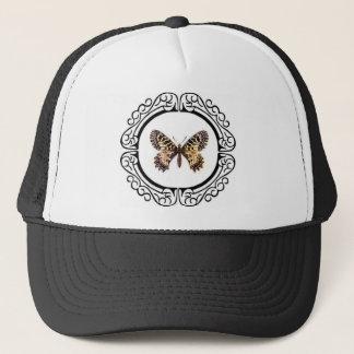 gepunkteter beringter Schmetterling Truckerkappe