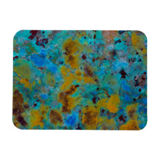 Gepunkteter blauer Chrysocolla Jaspis Magnet