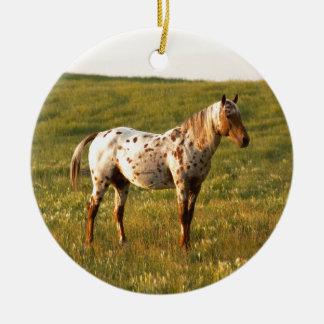 Gepunkteter PferdeStallion Keramik Ornament